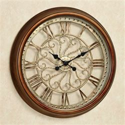 Cronus Wall Clock Copper