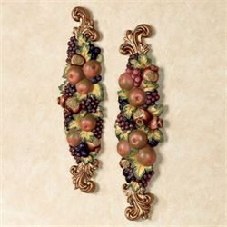 Falls Bounty Wall Plaques Multi Jewel Set of Two