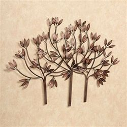 Splendid Forest Metal Wall Art Brushed Bronze