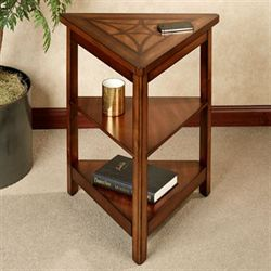 Darren Triangle Accent Table Classic Cherry