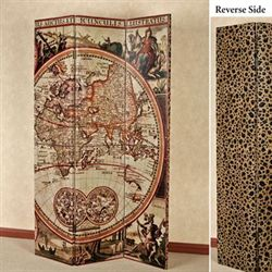Explore The World Reversible Folding Screen Multi Warm