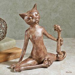 Flexible Feline Sculpture