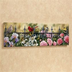 Backyard Beauties Canvas Wall Art Multi Bright