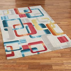 Retro Modo Rectangle Rug Multi Jewel