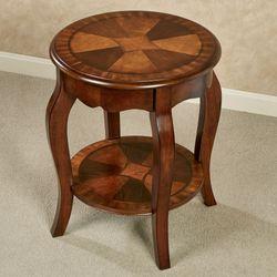 Rhylen Round Accent Table Classic Cherry