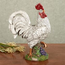 Good Morning Rooster Sculpture White