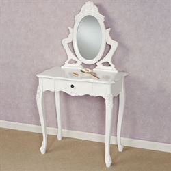 Jeannette Vanity Table Only Antique White