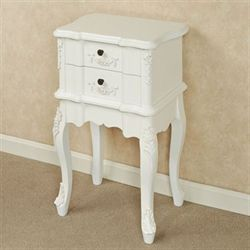 Jeannette Two Drawer Cabinet Antique White