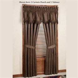 Red Rodeo Tailored Curtain Panel Dark Red 48 x 84