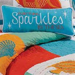 South Seas Embroidered Pillow Multi Bright Rectangle