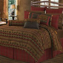 Cascade Lodge Comforter Bed Set Brown