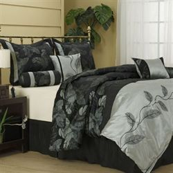 Napa Comforter Bed Set Black
