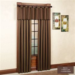 Wilderness Ridge Curtain Panel with Tieback Cypress 48 x 84
