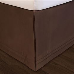 Hike Up Your Skirt(R) Tailored Bedskirt Chocolate