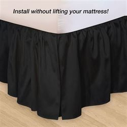 Hike Up Your Skirt(R) Ruffled Bedskirt Black