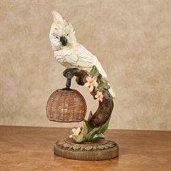 Alika Cockatoo Accent Lamp Off White Each with LED Bulb