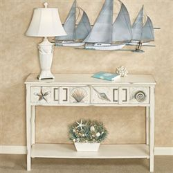 Caspian Cove Console Table Ivory