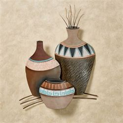 Clay Pots Trio Wall Art Multi Earth