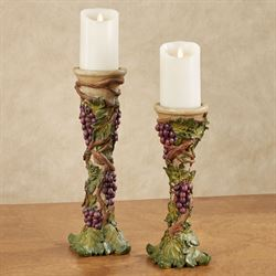 Grape Harvest Candleholders Sangria Set of Two