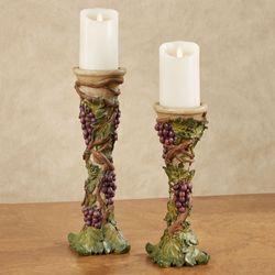Grape Harvest Candleholders Sangria Set of Two