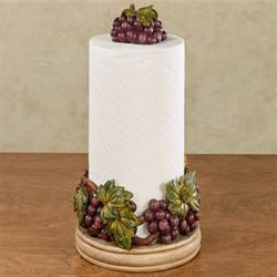 Grape Harvest Paper Towel Holder Sangria