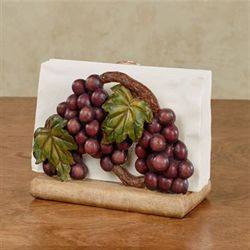 Grape Harvest Napkin Holder Sangria