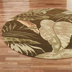 Rainforest Round Rug  76 Round
