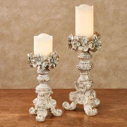 Elianna Rose Candleholders Ivory/Gold