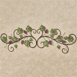 Vining Grapes Decorative Wall Topper Sangria
