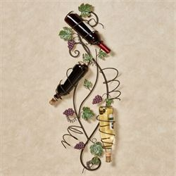 Vining Grapes Wall Wine Bottle Rack Sangria