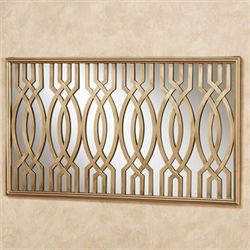 Byanca Mirrored Wall Art Satin Gold