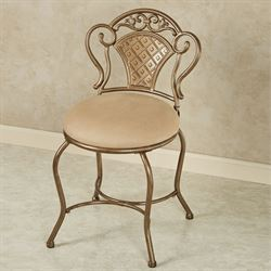 Claira Gold Upholstered Vanity Chair