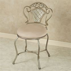 Claira Vanity Chair Platinum