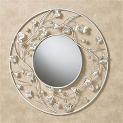 Pearlyssa Round Wall Mirror