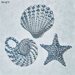 Coastal Gems Wall Art Platinum Set of Three