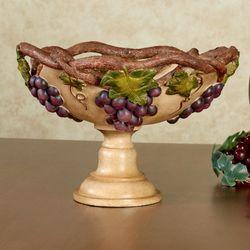 Grape Harvest Decorative Centerpiece Bowl Antique Ivory