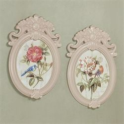 Darby Floral Wall Plaques Multi Pastel Set of Two