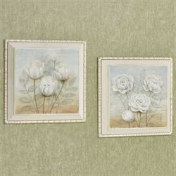 Sweet Blooms Framed Wall Plaques Multi Cool Set of Two