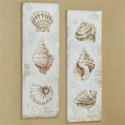 Gifts of the Sea Canvas Wall Art Natural Set of Two
