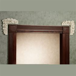 Magnolia Wall Ornament PairIvoryPair