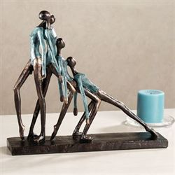 Exhausted Dancers SculptureBronze
