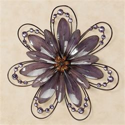 Floral Gem Purple Wall AccentPurple