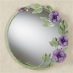 Les Fleurs Mulberry Rose Wall MirrorMulberry