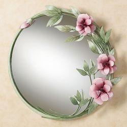 Les Fleurs Pink Rose Wall MirrorPink