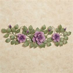 Les Fleurs Mulberry Rose Swag Wall AccentMulberry