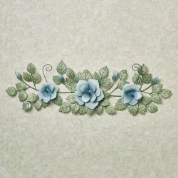 Les Fleurs Rose Swag Wall Accent Pastel Blue