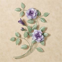 Les Fleurs Rose Spray Wall SculpturesPurple