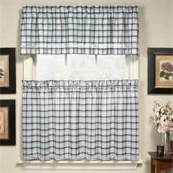 Dover Plaid Tier Window Treatments