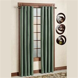 Canvas Blackout Curtain Panel