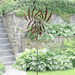 Pinwheel Kinetic Spinner Stake Copper